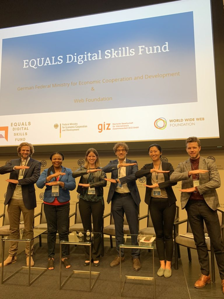 Group photo from the EQUALS Digital Skill Fund launch event
